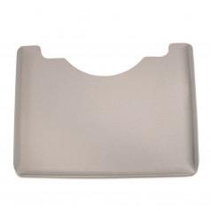Широкий столик, геометрический, серый или прозрачный