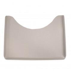 Широкий столик, квадратный, серый