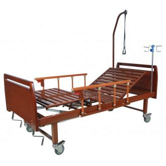 Кровать функциональная механическая Belberg 8-17 темное дерево с туал.устр. бук
