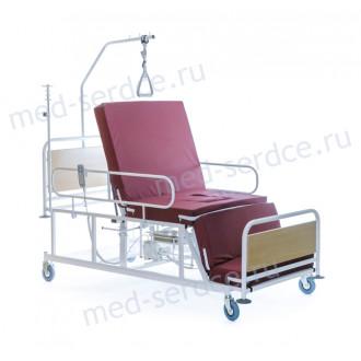 Электрическая медицинская кровать с кардио-креслом Belberg 4-02 с санитарным оснащением