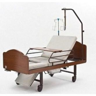 Кровать функциональная медицинская 3-х секционная механическая с санитарным оснащением DHC FF-3
