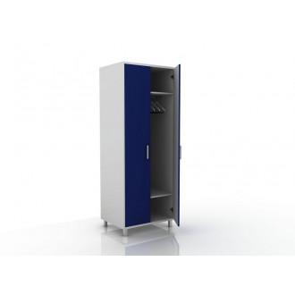 Шкаф для одежды (в комплекте перекладина хром, полки) 105-001-1