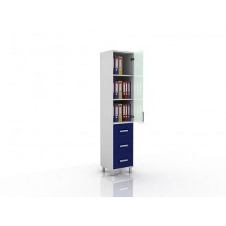 Шкаф для документов (верх стекло, низ ящики выдвижные) 105-001-13