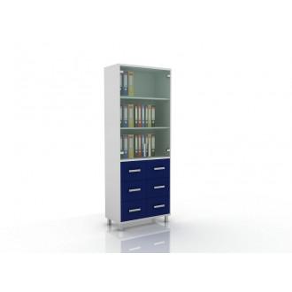 Шкаф для документов (верх стекло, низ ящики) 105-003-11
