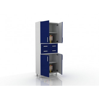 Шкаф для документов (глухие дверцы, 4 ящика в центре) 105-003-18