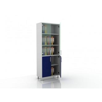 Шкаф для документов (стекло и глухие дверцы) 105-003-2
