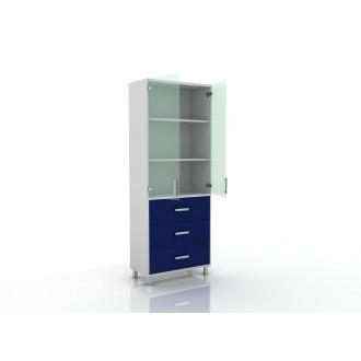Шкаф для документов (верх стекло, низ ящики) 105-003-20