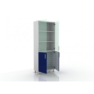 Шкаф для медикаментов (верх стекло, низ- глухие двери) 105-004-16