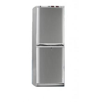 Холодильник фармацевтический двухкамерный ХФД-280 (140/140 л) с дверями из металлопласта серебряного цвета