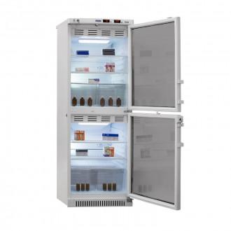 Холодильник фармацевтический двухкамерный ХФД-280(ТС) (140/140 л) с тонированными стеклянными дверями