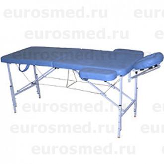 Массажный стол MedMebel №2 с валиком и подлокотниками