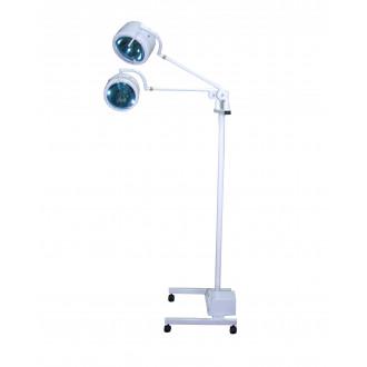 Светильник гинекологический передвижной двухблочный двухрефлекторный П-5