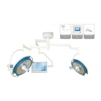 Светодиодный хирургический светильник двух купольный YDZ700/500 plus со встроенной камерой и монитором