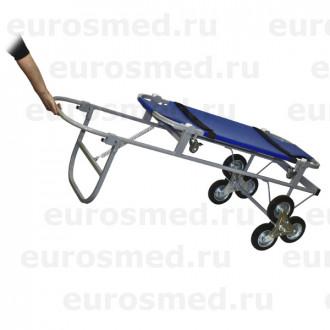 Тележка ветеринарная с носилками ПВХ, со строенными колесами СВУ-20.12