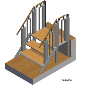 Лестница-трансформер FlexStep V2 / 3+1 ступеньки / высота подъёма до 740 мм